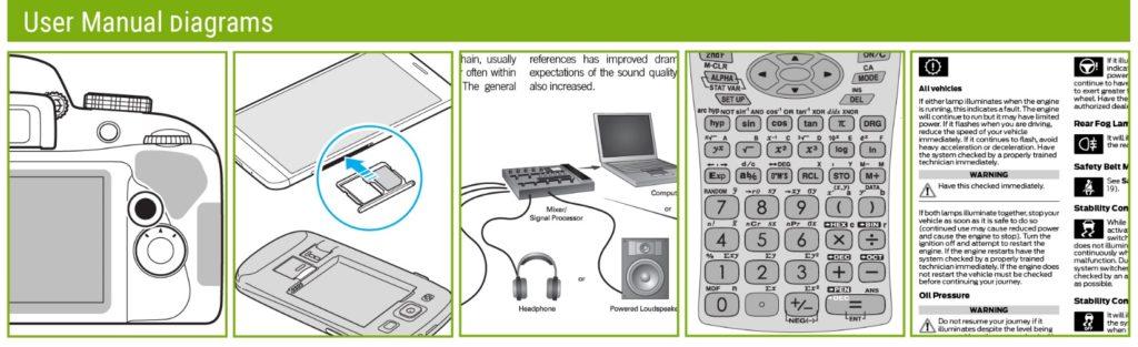 user manual diagrams