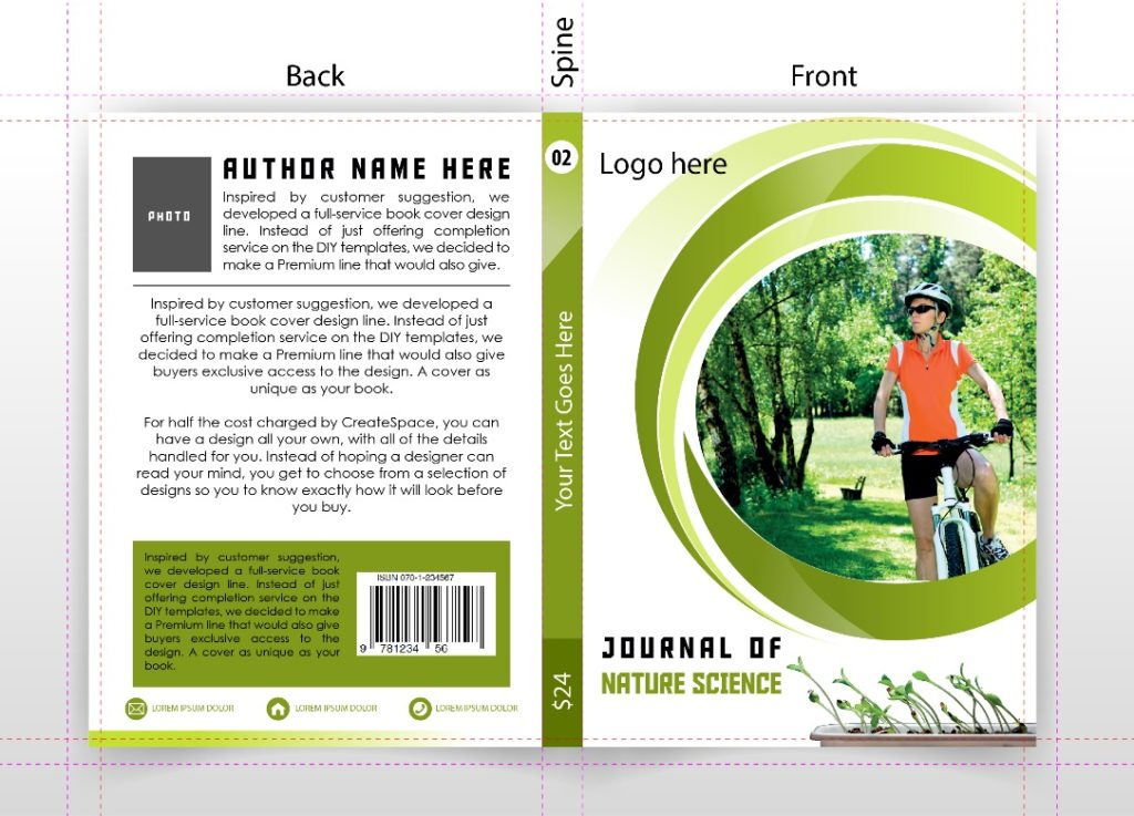 •Prepare impressive and eye catching templates for books and journals covers